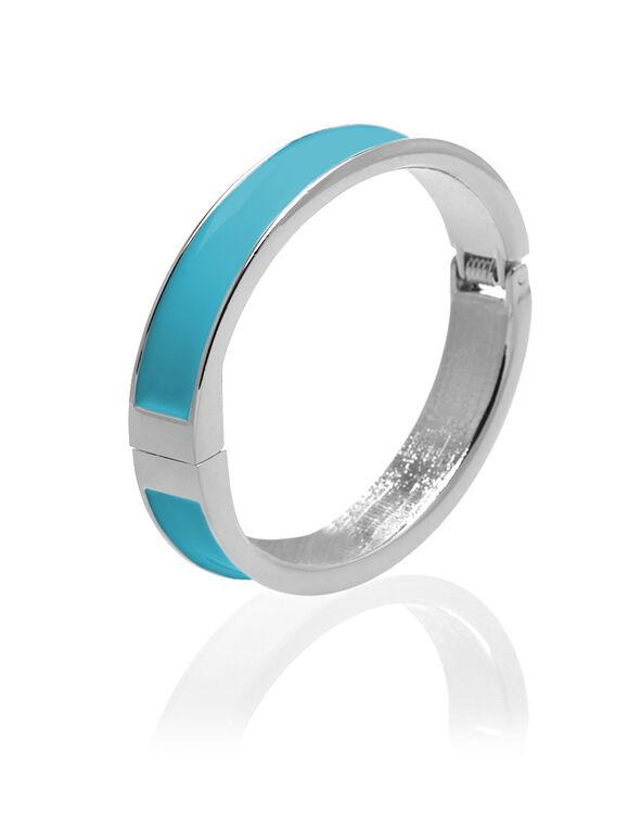Turquoise Bangle Bracelet, Silver/Turquoise, hi-res
