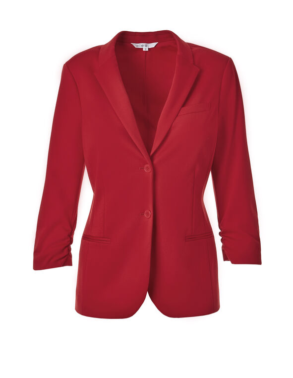 Winter Red Boyfriend Blazer, Winter Red, hi-res