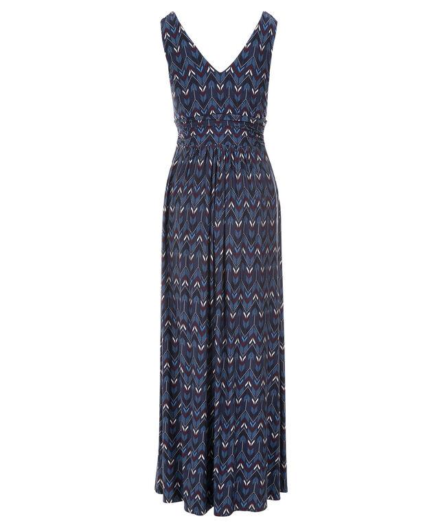 Arrow Print Maxi Dress, Navy Print, hi-res