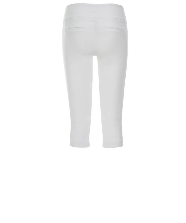 Microtwill Super Slim Leg Capri, True White, hi-res