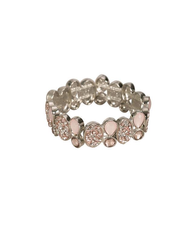 Misty Pink Stretch Bracelet, Misty Pink/Rhodium, hi-res