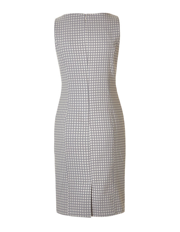 Soft Pink Jacquard Shift Dress, Soft Pink/Grey, hi-res
