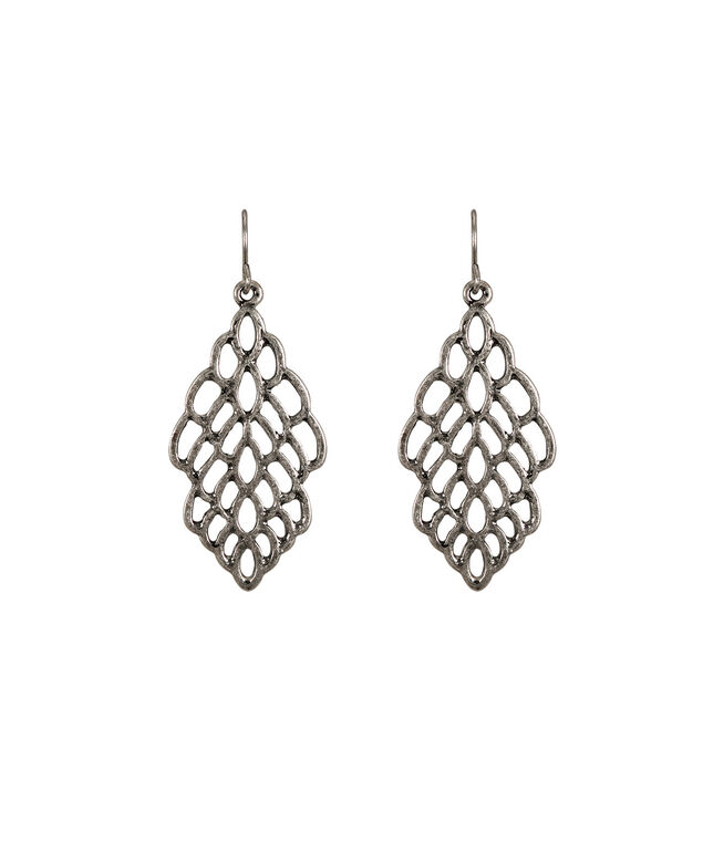 Cutout Earring, Burnished Silver, hi-res