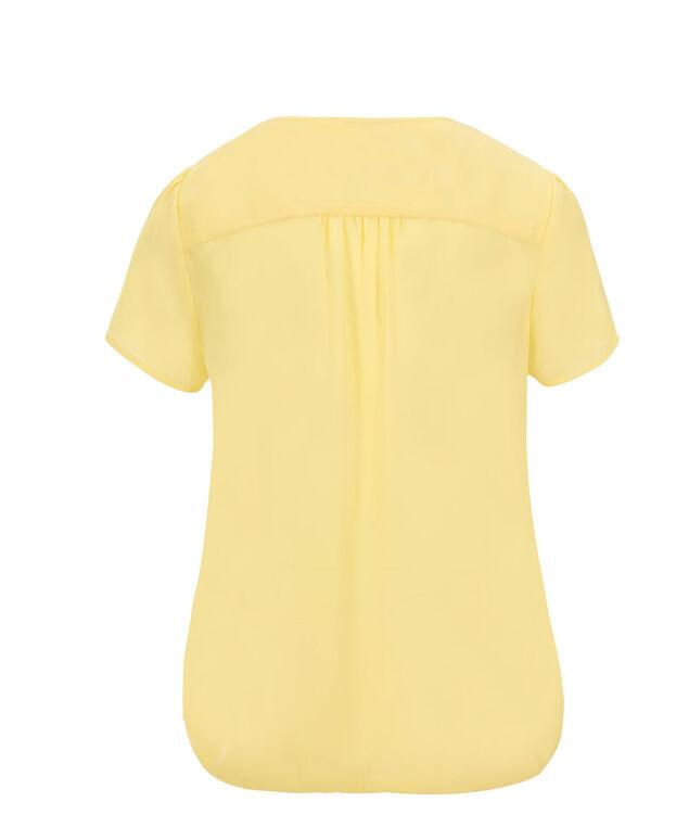 Cap Sleeve Bubble Blouse, Yellow, hi-res