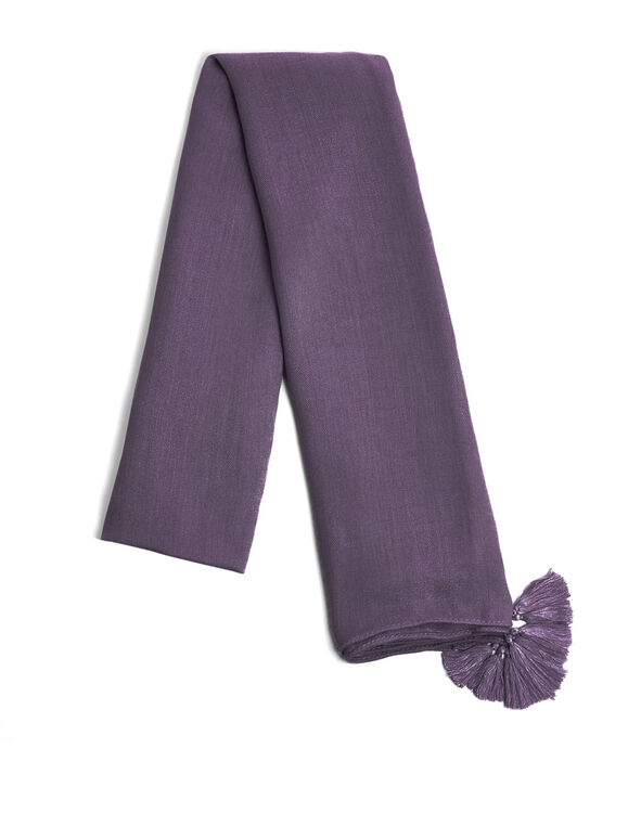 Tangled Plum Tassel Scarf, Purple, hi-res