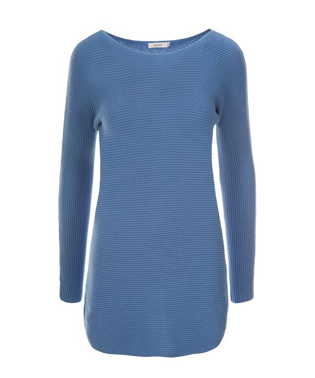 Ribbed Tunic, Sea Blue, hi-res