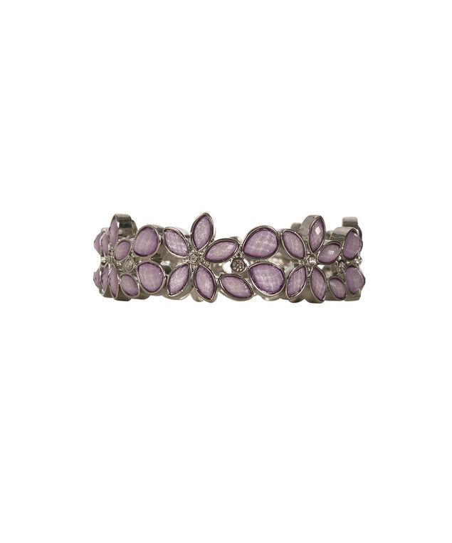 Glitter Stone Bracelet, Lilac/Rhodium, hi-res