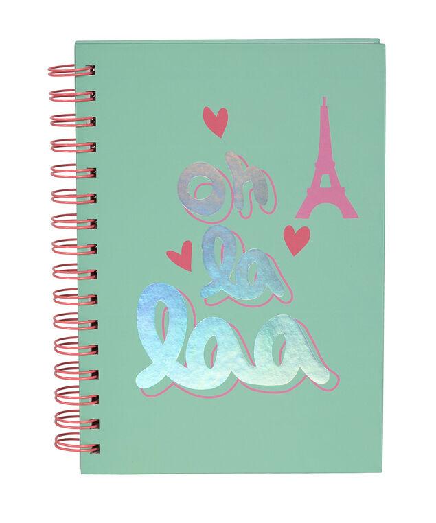 Ooh La La Notebook, Teal, hi-res