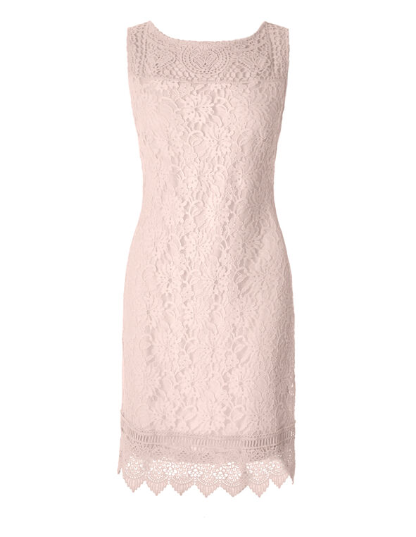 Pink Sand Lace Shift Dress, Pink Sand, hi-res