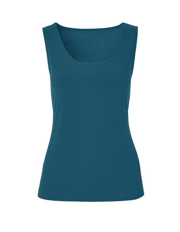 Turquoise Essential Layering Top, Dark Turquoise, hi-res