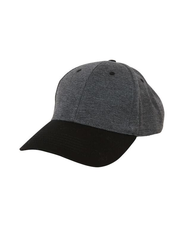 baseball cap, BLACK/CHARCOAL, hi-res