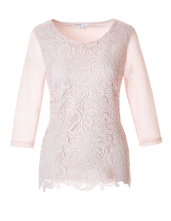 Pink Sand Crochet Top, Pink Sand, hi-res