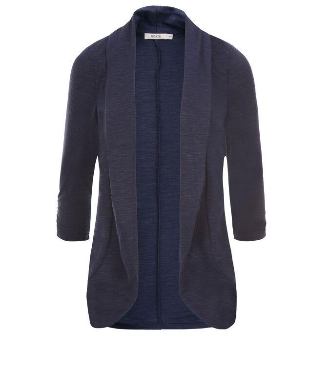 Shawl Collar Cover-Up, Deep Blue, hi-res