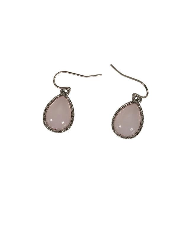 Milky Stone Teardrop Earring, Misty Pink/Rhodium, hi-res