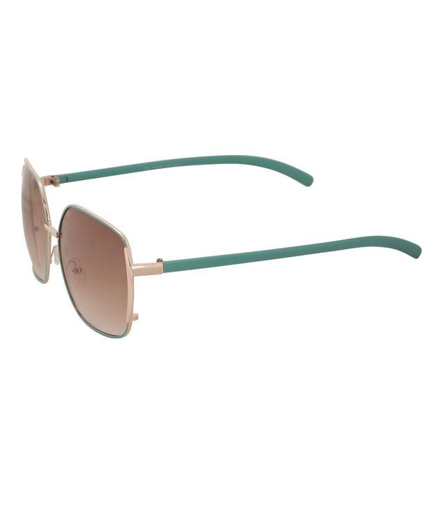 Epoxy Arm Aviator Sunglasses, Light Turquoise/Gold, hi-res