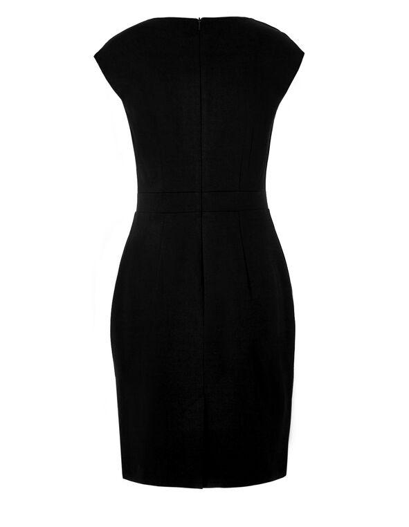 Saffron Block Shift Dress, Black/Saffron/White, hi-res