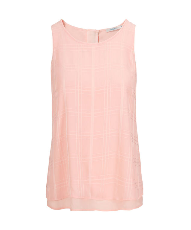 2-Layer Zipper Back Tank, Misty Pink, hi-res
