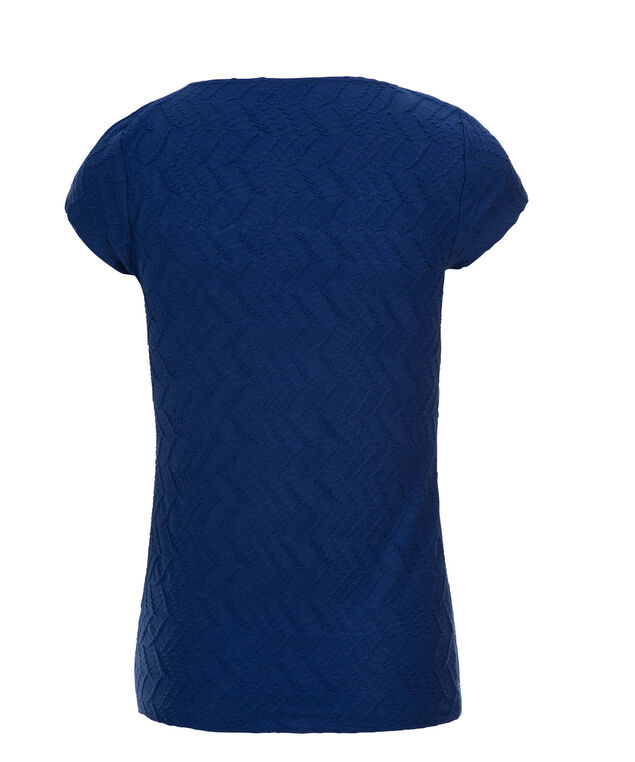 Short Sleeve Textured Tee, Sapphire, hi-res