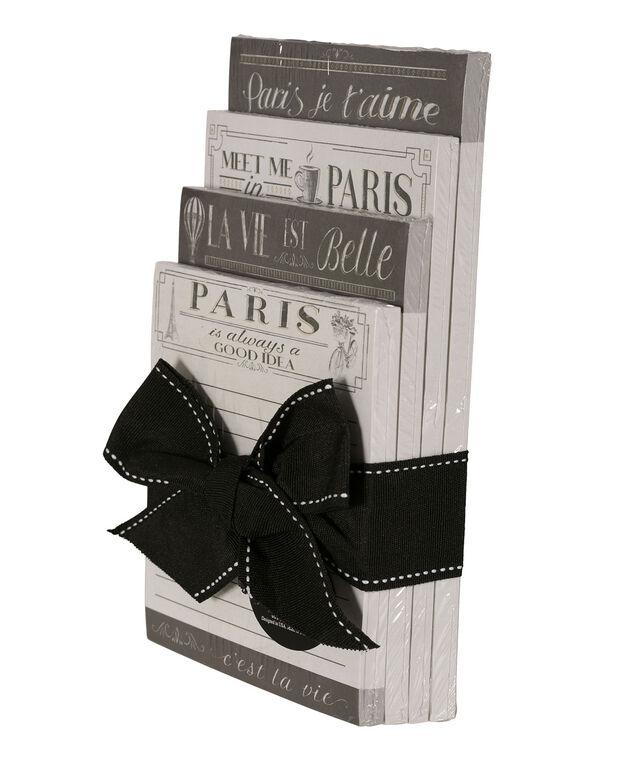 Paris Quickstack Notepads, Black/Gold, hi-res