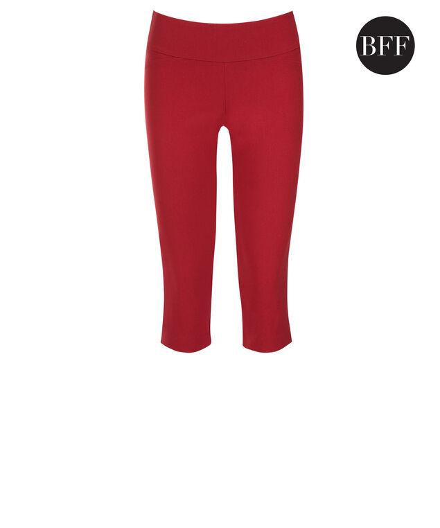 Microtwill Super Slim Leg Capri, Poppy Red, hi-res