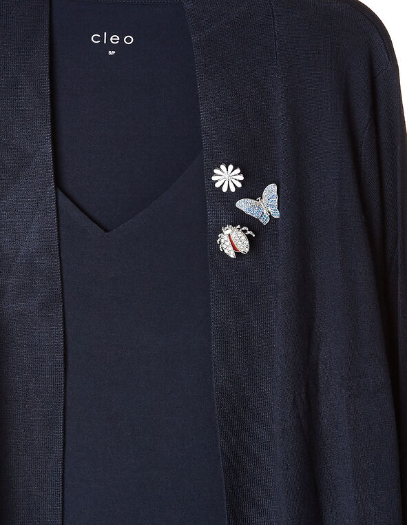 Silver Spring Jewel Pin Set, Silver, hi-res
