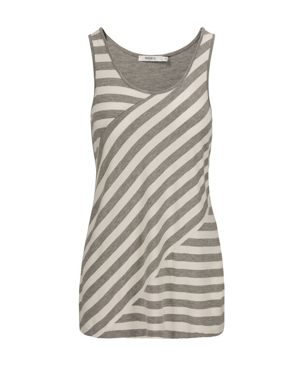 Spliced Stripe Tank, Grey Pattern, hi-res