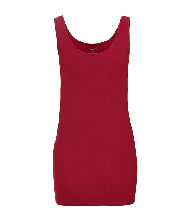 Tunic Length Cami, Poppy Red, hi-res