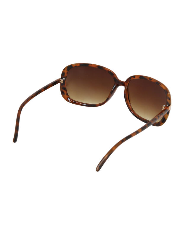 tort rounded sunglasses, TORT, hi-res