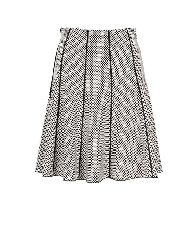Scuba Piping Flip Skirt, Black/White, hi-res