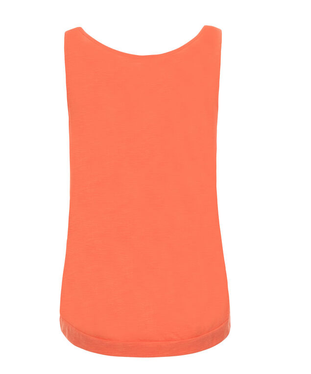 Smocked Neck Banded Bottom, Soft Orange, hi-res