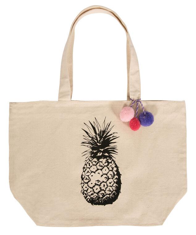 Pineapple Tote Bag, Natural, hi-res