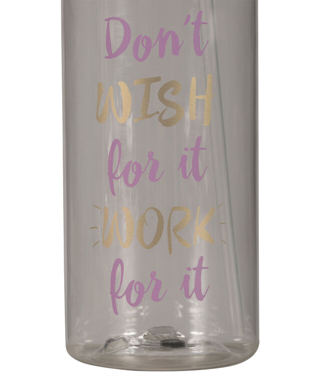 Work For It Water Bottle, Purple/Gold, hi-res