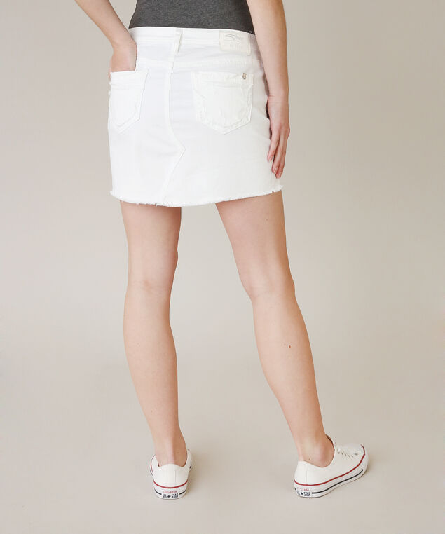 francy white mini skirt - wb, WHITE, hi-res