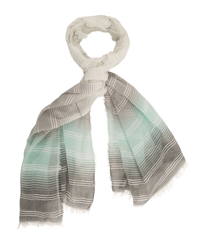 Ombre Stripe Scarf, Light Turquoise/Grey, hi-res