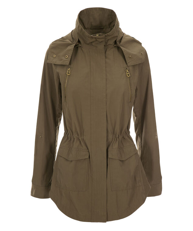 Hooded Anorak Jacket, Olive, hi-res