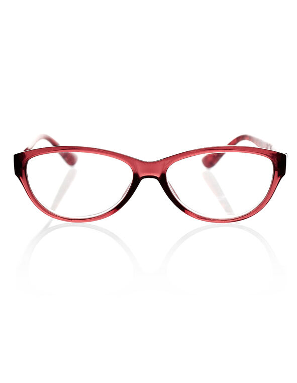 Red Leopard Print Readers, Red/Black, hi-res