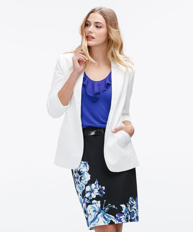 Border Print Pencil Skirt, Blue/Black Print, hi-res