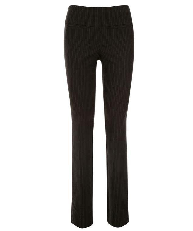 Microtwill Striped Straight Leg, Black/Grey Pattern, hi-res