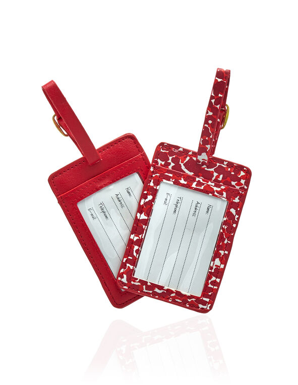 Luggage Tag 2 Pack, Red, hi-res
