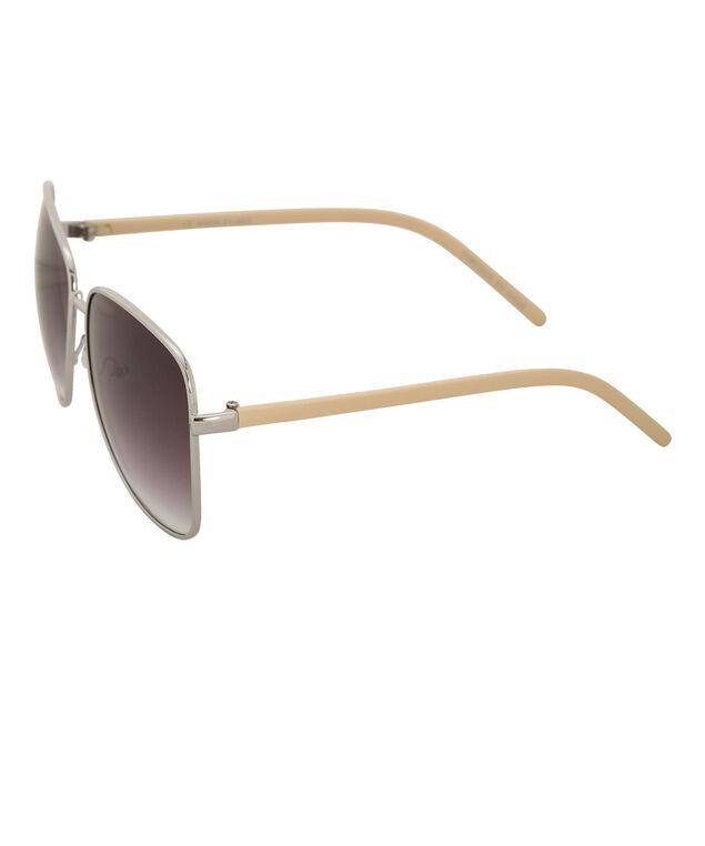 Epoxy Arm Aviator Sunglasses, Yellow/Silver, hi-res
