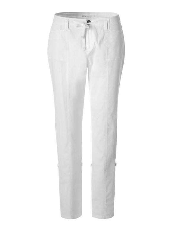 White Every Body Roll Up Pant, White, hi-res