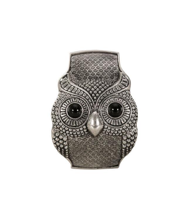 Owl Hinge Bracelet, Burnished Silver, hi-res