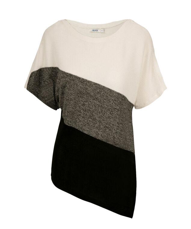 Asymmetrical Pullover, Milkshake/Black/White, hi-res