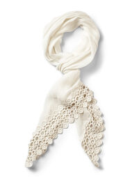 Ivory Embroidered Oblong Scarf