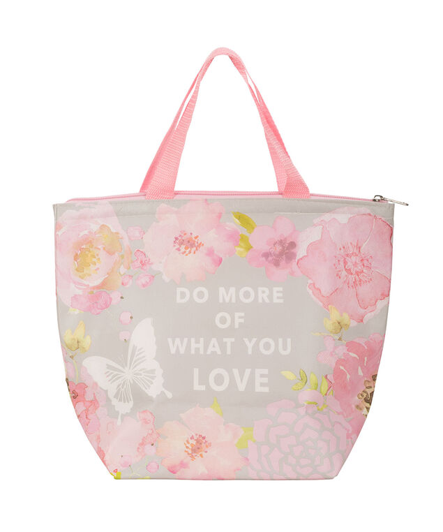 Do What You Love Lunch Bag, Pink/Grey, hi-res
