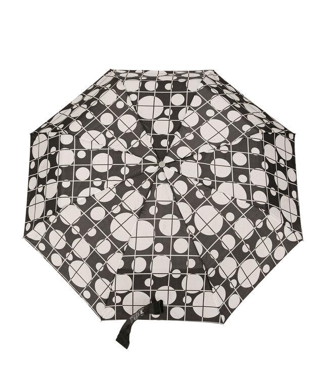 Large Dot Umbrella, White/Black, hi-res