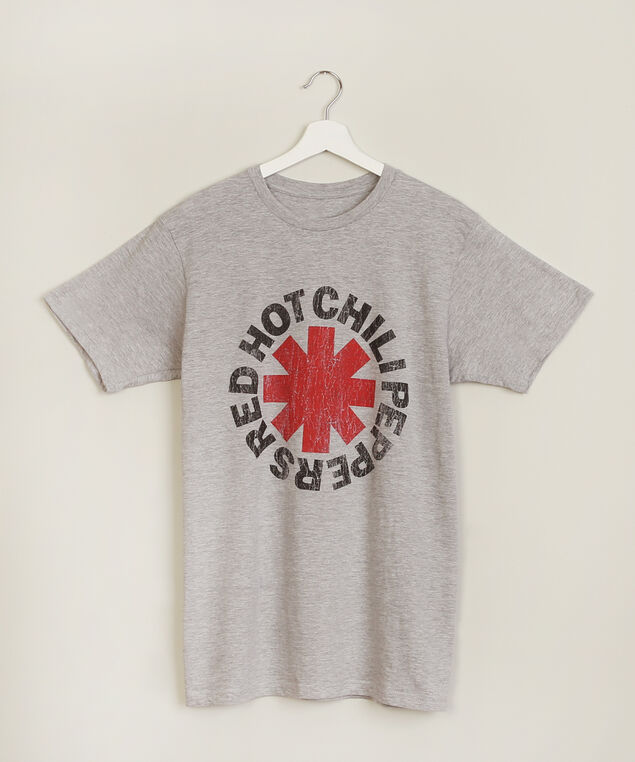 red hot chili peppers graphic tee, CHARCOAL HEATHER, hi-res