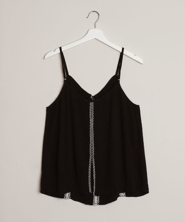 embroidered cami - wb, BLACK, hi-res