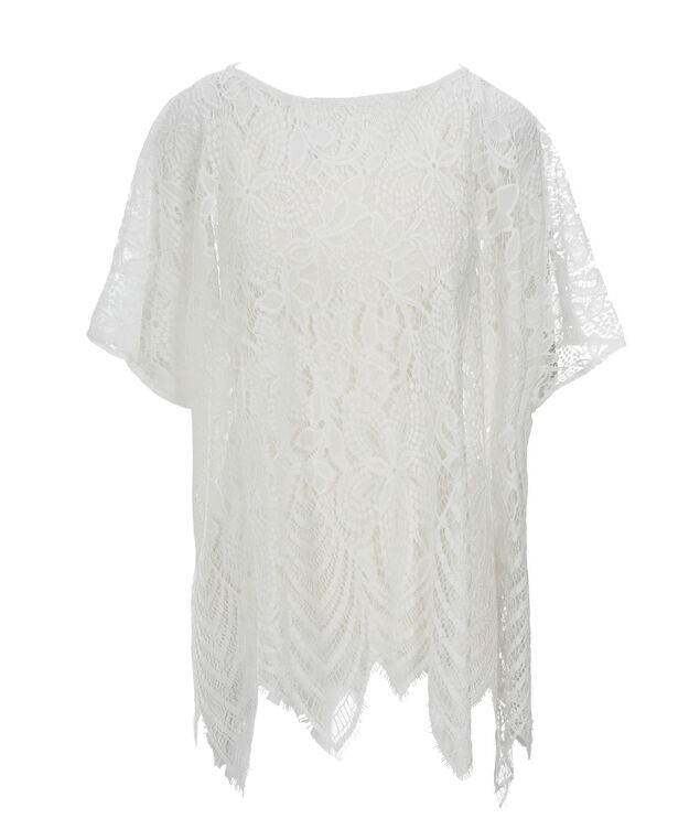 Scalloped Lace Cover-Up, True White, hi-res