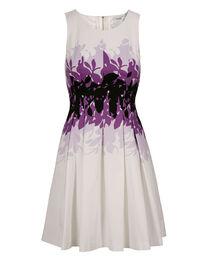 Purple Print Fit & Flare Dress